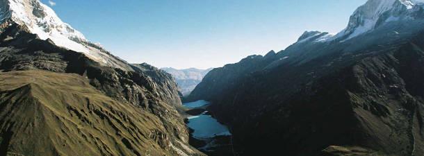 Quebrada de Llanganuco en Ancash